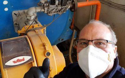 Seguimos trabajando para garantizar el mantenimiento de sala de calderas en buen estado COVID-19